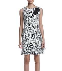 Taylor Dresses Dot Sheath Dress