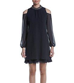 Xscape Cold-Shoulder Dress