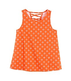 Miss Attitude Girls' 7-16 Crisscross Tank Top