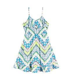 Miss Attitude Girls' 7-16 Flounce Dress