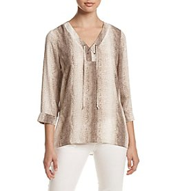 Relativity® Lace-Up Tunic Top