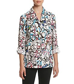 Relativity® Floral Utility Blouse