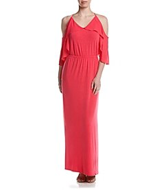 Relativity® Cold-Shoulder Maxi Dress
