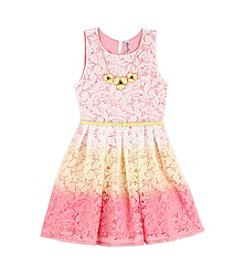 Beautees Girls' 7-16 Lace Ombre Dress