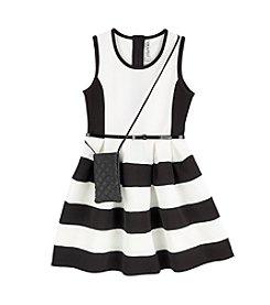 Beautees Girls' 7-16 Colorblock Dress