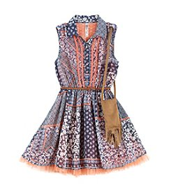 Beautees Girls' 7-16 Chiffon Skater Dress