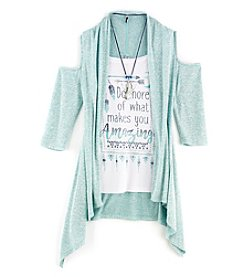 Beautees Girls' 7-16 3-Piece Amazing Duster