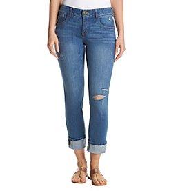 Relativity® Cuffed Capri Jeans