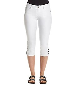 Relativity® Button Hem Capris