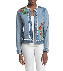 Relativity® Embellished Denim Jacket