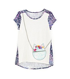 Jessica Simpson Girls' 7-16 Callow Meow Tee