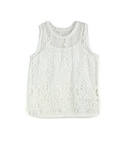 Jessica Simpson Girls' 7-16 Crochet Tank Top