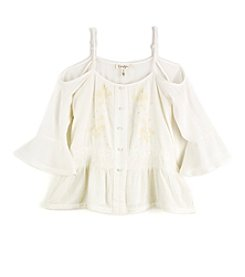 Jessica Simpson Girls' 7-16 Cold Shoulder Top