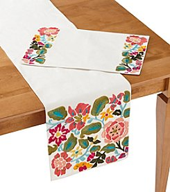 LivingQuarters Floral Table Linens