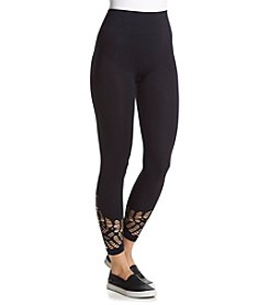 One 5 One® Crochet Cutout Ankle Leggings