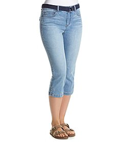 Bandolino® Mandie Denim Capris with Piping