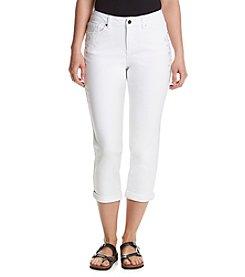 Earl Jean® Floral Embellished Capri Pants