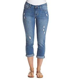 Earl Jean® Destructed Capri Pants