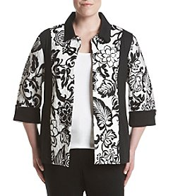 Alfred Dunner® Plus Size Floral Quilted Jacket