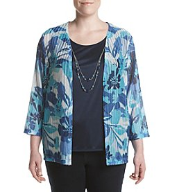 Alfred Dunner® Plus Size Scenic Route Layered Look Knit Top