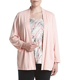 Alfred Dunner® Plus Size Rose Hill Layered Look Sweater