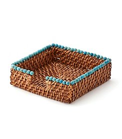 LivingQuarters Old Havana Square Rattan Napkin Holder