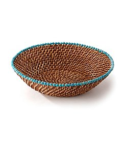 LivingQuarters Old Havana Rattan Serving Bowl