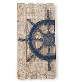 LivingQuarters Lake Ship's Wheel Wall Plaque