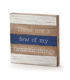 LivingQuarters Lake Favorite Things Wall Plaque