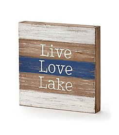 LivingQuarters Lake Live Love Lake Wall Plaque