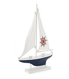 LivingQuarters Lake Decorative Sailboat