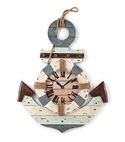 LivingQuarters Lake Wood Anchor Wall Clock