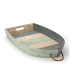 LivingQuarters Lake Wood Boat Tray