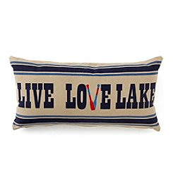 LivingQuarters Lake Live Love Lake Pillow