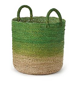 LivingQuarters Old Havana Medium Ombre Seagrass Basket