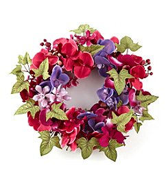LivingQuarters Old Havana Orchid Wreath