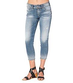 Silver Jeans Co. Suki Skinny Crop Fray Hem Jeans