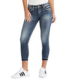 Silver Jeans Co. Avery Skinny Crop Release Hem Jeans