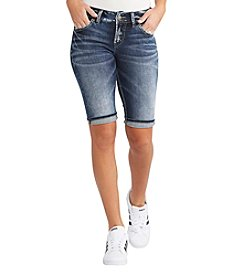 Silver Jeans Co. Suki Cuffed Bermuda Shorts