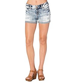 Silver Jeans Co. Suki Cuff Roll Destructed Shorts