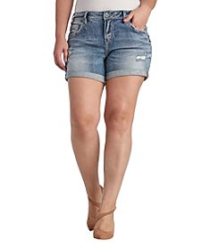 Silver Jeans Co. Plus Size Destructed Cuff Shorts