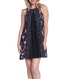 Skylar & Jade™ Floral Mix Media Swing Dress