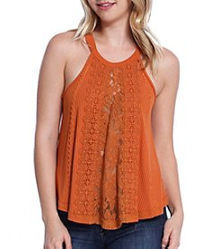 Skylar & Jade™ Mix Lace Tank