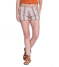 Skylar & Jade; Jacquard Stripe Shorts