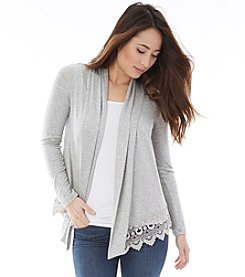 A. Byer Crochet Trim Cozy Cardigan