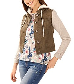 Wallflower Layered Look Twill Jacket