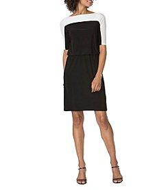 Chaps® Two Tone Matte Jersey Dress