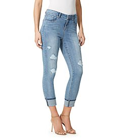 Miracle Jean® Destroyed Roll-Up Crop Slimming Jeans