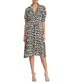 Lauren Ralph Lauren® Crepe Fit-And-Flare Shirtdress