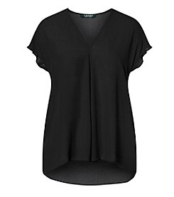 Lauren Ralph Lauren® Georgette Short-Sleeve Top